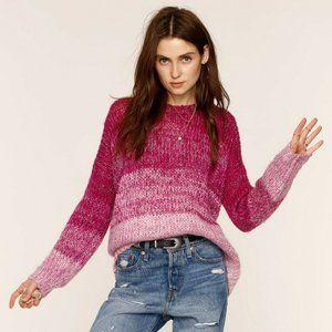 NWOT Heartloom Halen Magenta Ombre Stripe Sweater